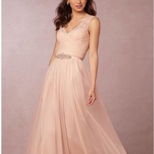 Anthro BHLDN Fleur Dress w/ Belt in Blush 2